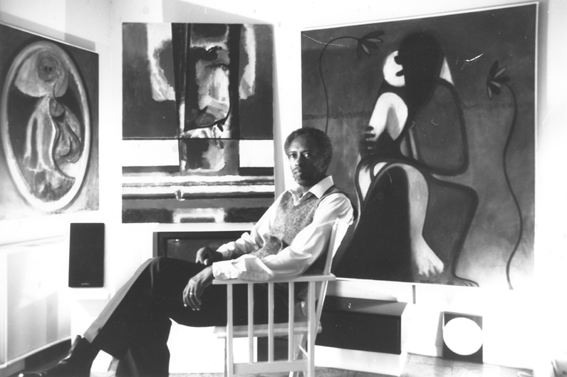 Eugene James Martin in his studio, Washington, DC, 1988