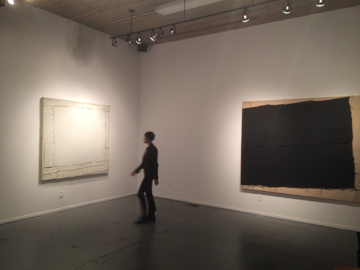 "installation view of the exhibition ""Black Rubber Sheet"" at beta pictoris gallery"